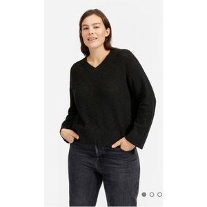 EVERLANE Cotton Linen V-Neck Sweater Top